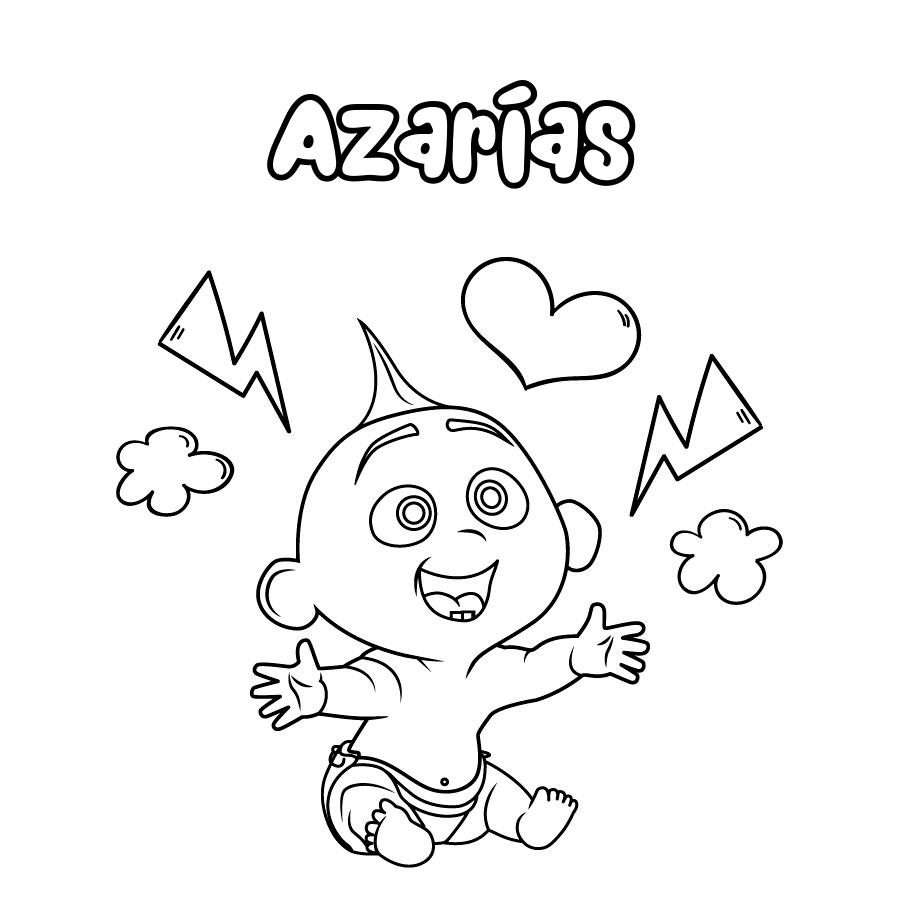 Dibujo de Azarías