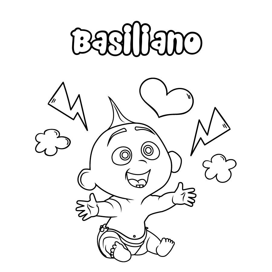 Dibujo de Basiliano