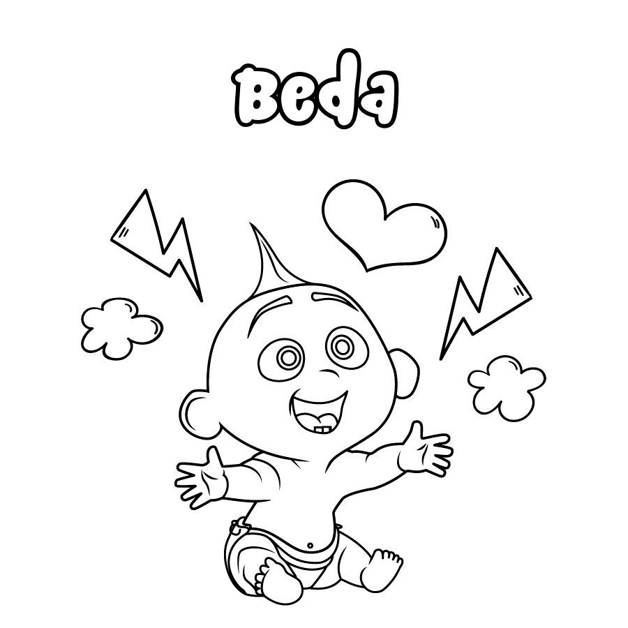 Dibujo de Beda