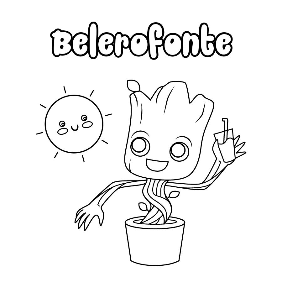 Dibujo de Belerofonte