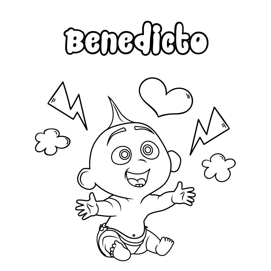 Dibujo de Benedicto