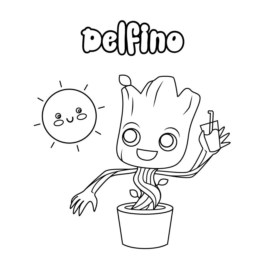 Dibujo de Delfino