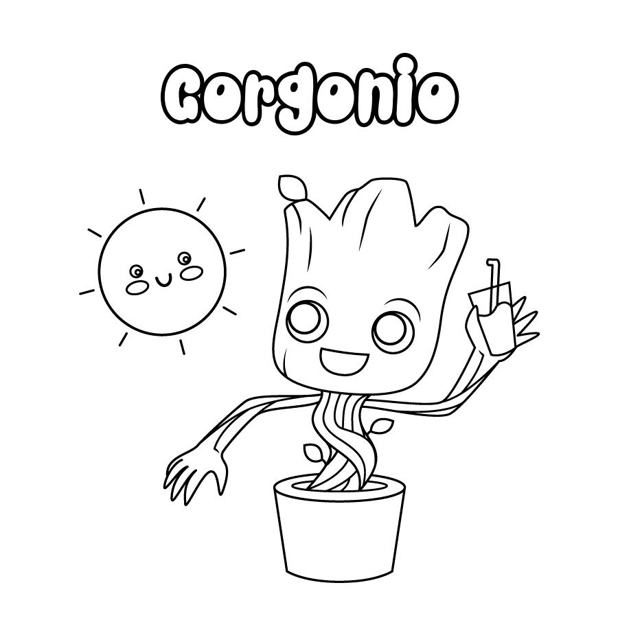 Dibujo de Gorgonio