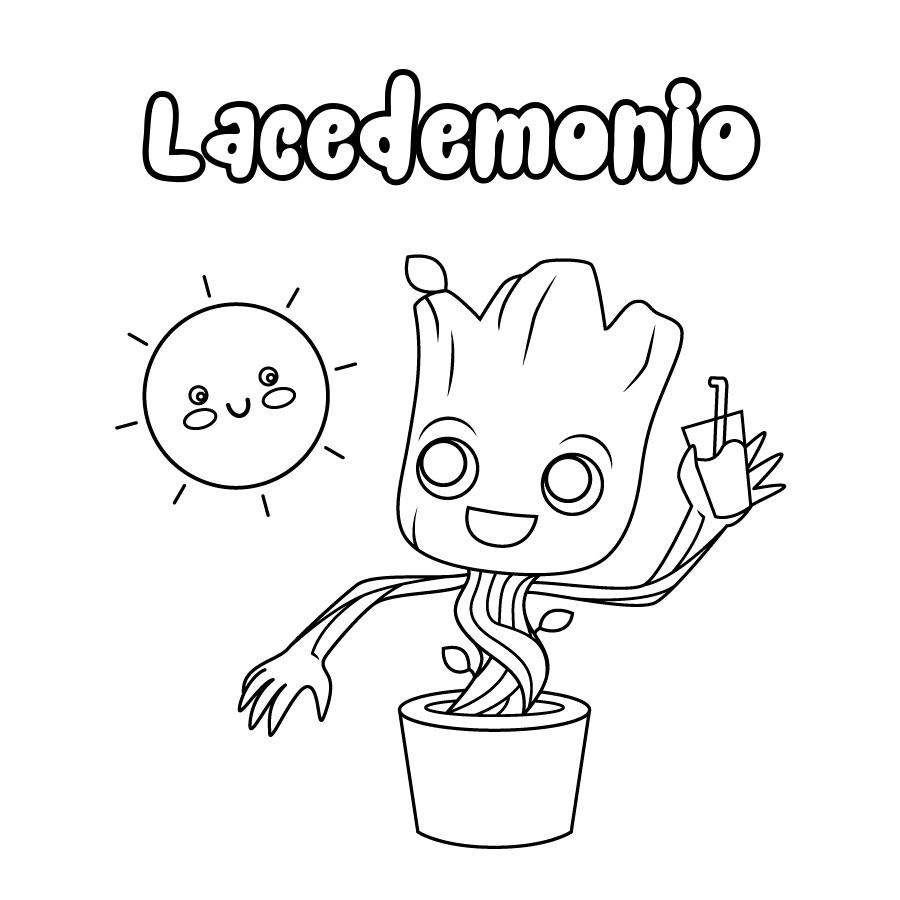 Dibujo de Lacedemonio